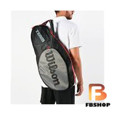 Bao vợt Tennis Wilson Team III 3 Pack Black
