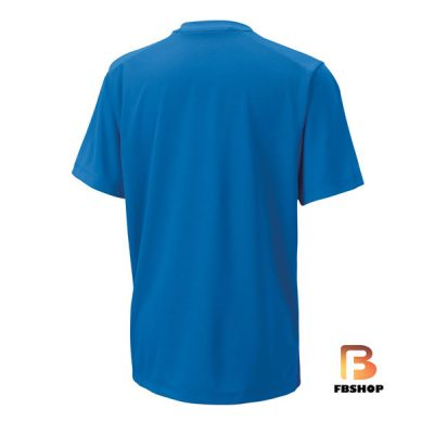 Áo Tennis Wilson Boys Tramline Tech Blue