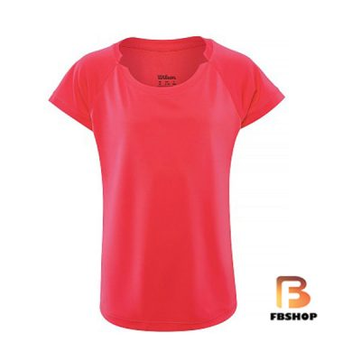 Áo Tennis Wilson Girls Cap Sleeve Orange