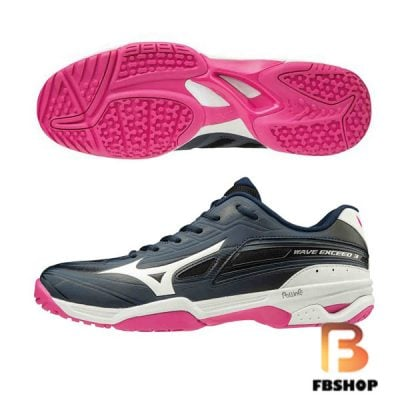 Giày tennis Mizuno Wave Exceed 3 OC Black